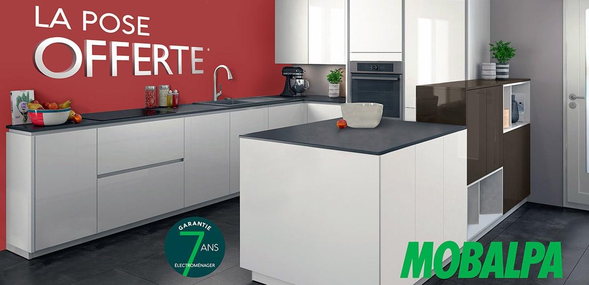 Barascud et Mobalpa vous offrent la pose de votre cuisine neuve du 06 au 30 septembre 2018